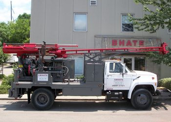 Bhate Geosciences Geotechnical and Environmental Drilling Drilling Truck Parked Outside