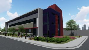 Rendering of DC BLOX Flagship Data Center - Birmingham, AL - Pieper O'Brien Herr Architects