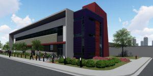 Rendering of DC BLOX Flagship Data Center - Birmingham, AL - Pieper O'Brien Herr Architects